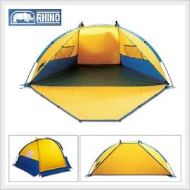【犀牛 RHINO】Beach Tent 海灘遮陽帳篷.輕便帳棚.兒童遊戲室.多用途簡易帳蓬.賞鳥.露營.休閒/黃灰藍 T-103
