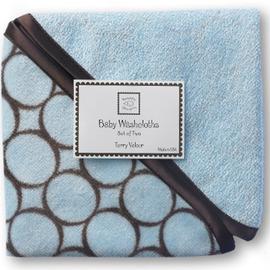 美國【Swaddle Designs】嬰兒洗澡毛巾-藍 (2入)