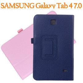 【帶筆插】三星 SAMSUNG Galaxy Tab 4 7.0 T235/T230/T2397 專用平板 荔枝紋皮套/書本式側掀保護套/斜立支架展示