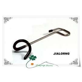 大林小草~【LT-05】嘉隆 Jialorng 不鏽鋼營燈掛勾-L (迴鉤款)吊燈鉤、弔燈勾(適用25mm~32mm營柱)