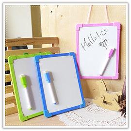 【Q禮品】A1246尼可熊小白板附筆/兒童單面白板留言板寫字板塗鴉板繪畫板