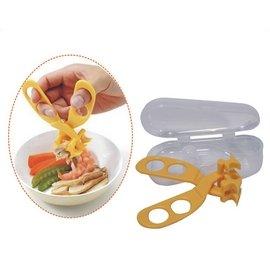 【紫貝殼】 『JF33693』日本Gino 盒裝兩用食物剪(食物夾) 磨泥*壓泥*可拆洗【保證原廠公司貨】【店面經營/可預約看貨】