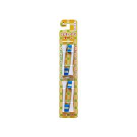 【紫貝殼】 『JW10215』日本原裝進口*懶懶熊盒裝兒童電動牙刷/補充包4枚 3Y+【店面經營/可預約看貨】