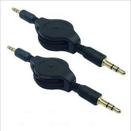 3.5mm 公對公3.5對3.5 伸縮延長線/對錄線/aus線/音源線/音頻線/伸縮線 (黑/白) [JIO-00013]