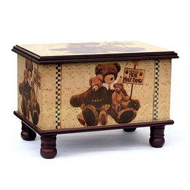 木製~古典藝術 星星熊   寶貝椅 26x37x27cm~腳椅凳~收納箱玩具箱