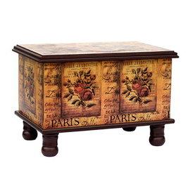 木製^~古典藝術 典藏玫瑰   寶貝椅 26x37x27cm~腳椅凳^~收納箱玩具箱
