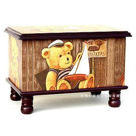 木製^~古典藝術 兄妹熊 寶貝椅 26x37x27cm~腳椅凳^~收納箱玩具箱