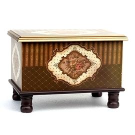 木製~古典藝術 巧克力玫瑰 寶貝椅 26x37x27cm~腳椅凳~收納箱玩具箱