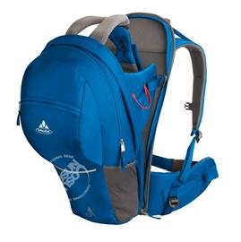 【德國 VAUDE】《送太陽眼鏡》Teffy 20L 專業輕量嬰兒背架背包.兒童揹架.背帶.健行登山背包.野外露營行動嬰兒座椅 VA-10426 藍