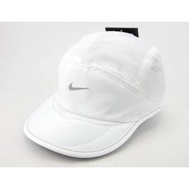 NIKE DRI-FIT系列 Running Cap 女性運動遮陽帽-白 (371229-100)