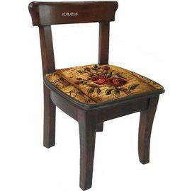 ~玫瑰物語~木製^~典藏玫瑰方形兒童小靠背椅太陽花花熊 典藏玫瑰蜜蜂Apple帽子熊