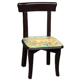 ~玫瑰物語~木製^~snuflower太陽花花熊 方形兒童小靠背椅太陽花花熊 典藏玫瑰蜜蜂