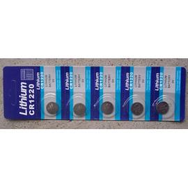 CR1220 鋰錳 水銀電池/鋰電池/紐扣電池/水銀電池(5入) [KBO-00012]