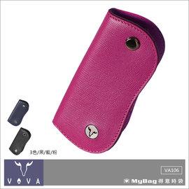 VOVA 沃汎 皮夾 VA106W006FU 桃紅色 自由系列 蜥蜴紋單鎖包 MyBag得