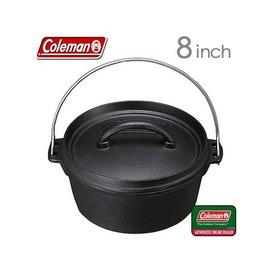 170-9393美國Coleman荷蘭鍋8吋SF鑄鐵鍋CM-9393(免開鍋)附起鍋勾+原廠收納袋