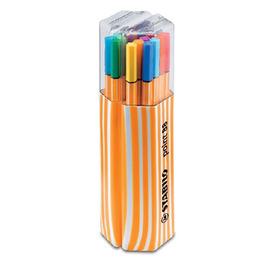 STABILO鵝牌 point 88 款式細字彩色簽字筆 ^(0.4mm^) 20色筒裝