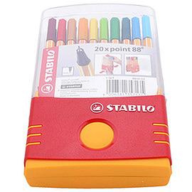STABILO鵝牌 point 88 款式細字彩色簽字筆  0.4mm  20色盒裝 88