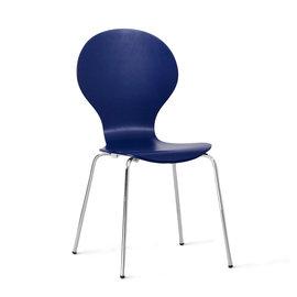 【Ailiwu愛麗屋】曲線造型米樂椅─深藍#1493 - 辦公椅/餐椅/書桌椅/電腦椅/洽談椅/會議椅