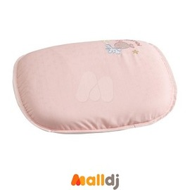 MallDJ親子 網 ~ Combi 康貝 小魚嬰兒護頭乳膠枕~粉藍~ ^#PB00408