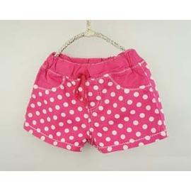 ~日單 ~桃紅色白點點甜心短褲~110cm