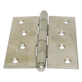 白鐵丁雙/鉸鍊/後鈕 4英吋2mm厚★一般木門適用(附螺絲釘)