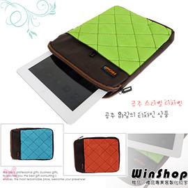 【winshop】B1261 多功能蘋果iPad平板電腦(格紋手提)保護包/保護套收納包外用包旅行包手提包公事包