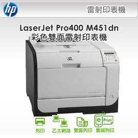 印  品 HP LJ Pro 400 M451dn 雙面彩色印表機
