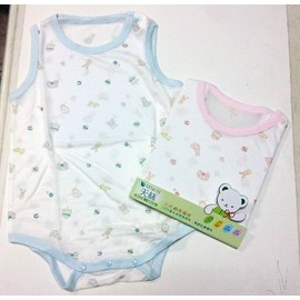 Baby City天絲棉遊戲熊背心連身衣(BB812541)