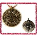 ^~唐古拉佛教文物 ^~尼泊爾 銅九宮八卦直徑約3.6cm吊飾ˋ項鍊ˋ鑰匙扣選