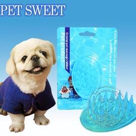 寵物甜心PET SWEET~乳膠按摩橢圓洗澡刷^(PPVC~149A^)