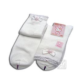 ~DK襪子毛巾大王~AMY TU 201 珍珠蝴蝶結童襪^(6雙^)^~ 271元^!^!