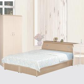 ~Homelike~艾莉5尺雙人床組^(白橡木紋^)