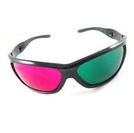 綠紅眼鏡 紅綠眼鏡3D眼鏡/立體眼鏡 **樹脂**
