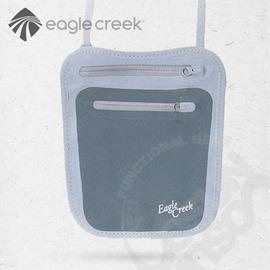 【美國 Eagle Creek】隨身暗袋(小)-頸帶式.貼身錢包.護照証件包.斜肩包.小零錢包 輕量.吸濕排汗抗菌布面/碳灰 EC40472012