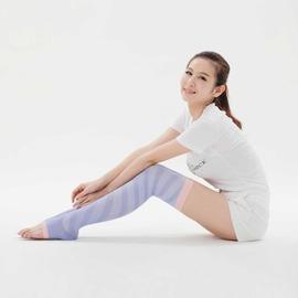 膠原蛋白保濕塑形護膚襪 美腿襪.睡眠用(螺旋紋.薰衣草紫.M size) JJ ROMAN