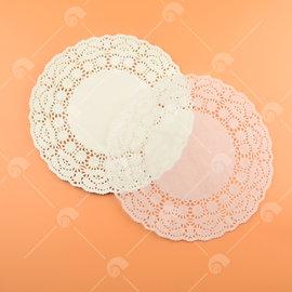 【艾佳】8.5吋圓形花邊紙(約25入/包) (花樣隨機出貨)