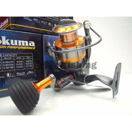◎百有釣具◎OKUMA 相撲 RAWII 8培林紡車式捲線器 80(16000)型~~送200M布線