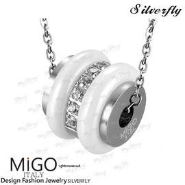 ~ SilverFly銀火蟲銀飾 ~~MiGO~燦爛項鍊~小 白