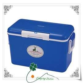 大林小草~【M-8159】日本鹿牌 CAPTAIN STAG 鹿王日本原裝保冷冰箱冰桶35公升(藍)