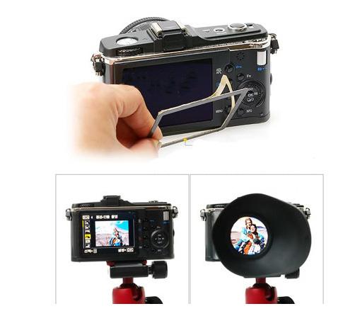 ROWA-JAPAN 2.8X LCD 液晶螢幕 觀景放大器 觀景器 取景器 for Canon 5DII 7D 500D 550D 600D 60D D90 / Sony NEX3 NEX5 / N 圖示介紹5