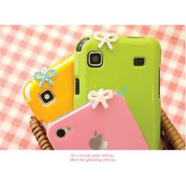 優雅甜美 珍珠蝴蝶結雨傘 掛式耳機孔防塵塞 /墜飾/iPad iTouch iPod HTC/3.5耳機