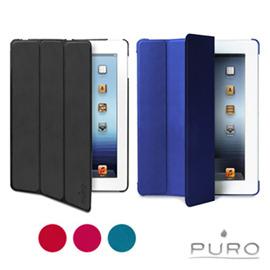 ~PURO~The New iPad iPad 4用超薄PU磁吸式側掀保護套 5色