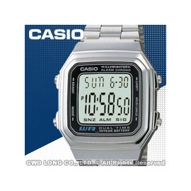CASIO 手錶 國隆 卡西歐 A178WA~1A 男錶 電子錶 壓克力強化鏡面 LED背