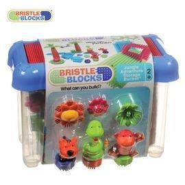 【紫貝殼】『CGA27』【美國B.Toys感統玩具】 Battat【布萊斯特鬃毛積木】系列-叢林冒險(58PCS)/益智遊戲(58pcs)【店面經營/可預約看貨】