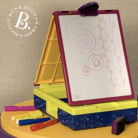 【紫貝殼】『CGA16-1 』【美國B.Toys感統玩具】 沃客旅行小畫架.攜帶式畫畫箱【店面經營/可預約看貨】