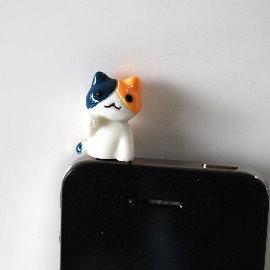 網通3C~iPhone 4S耳機塞~iPhone4.iPad nico貓耳機防塵塞.保護塞