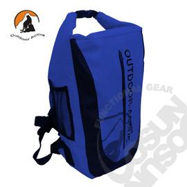 【Outdoor Active】暢銷款 WaterProof 500D 40L 專業壓縮防水背包/三用防水袋(雙肩式)隧道式散熱.適溯溪.浮潛.水上活動_(深藍) OA-WP01