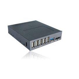內接 USB HUB~EASYDIY ED~UB~IN5~2 內建式3.5吋 5 USB