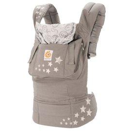 『BA02-2』【總代理公司貨】美國 Ergo Baby ergobaby Carrier 爾哥寶寶揹帶/揹巾/背巾(原創款*灰星)【贈KA09美國製醫療香草奶嘴3顆】