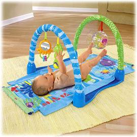 費雪 Fisher-Price 新海洋遊戲世界遊戲墊,贈小師王辛巴20抽濕巾*1    *從初生即可使用,給寶寶奇趣歡樂的時光!*